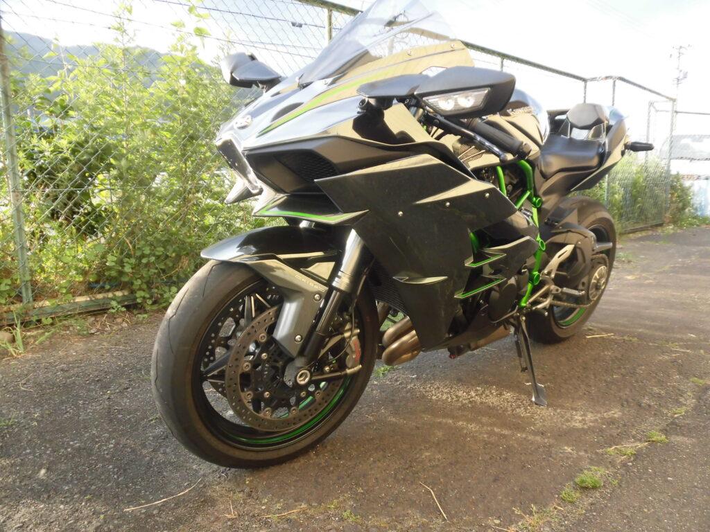 中古 KAWASAKI Ninja H2 車検、令和4年7月 走行11,231km フルパワー、ETC、ブライト正規モデル 平成27年式 ノーマルマフラー有  詳細画像